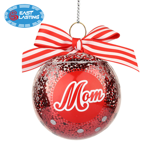 Family memory filled Christmas ornaments glass ball orb in bulk