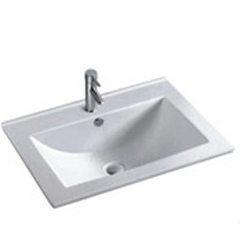 HS F0021 Rectangle Undermount Sink/ Sinks With Tap Hole/ Ceramic Wash Basin