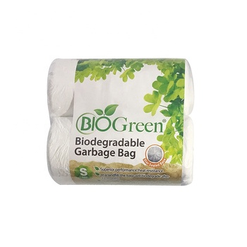 BioGreen Biodegradable Hot sale White Garbage Plastic Trash Rubbish Bag for Home
