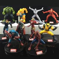 "10pcs Marvel The Avenger Age of Ultron Captain America/Thor/Ironman/Hulker super hero 8-10cm/3""-4"" Toys action figure"