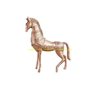 Best Selling Metal art New product brass horse statue sculpture