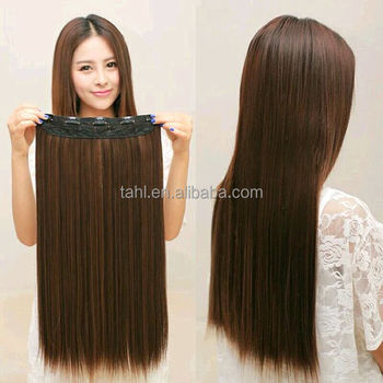 hot selling brown synthetic hair, hair extensions brown human hair