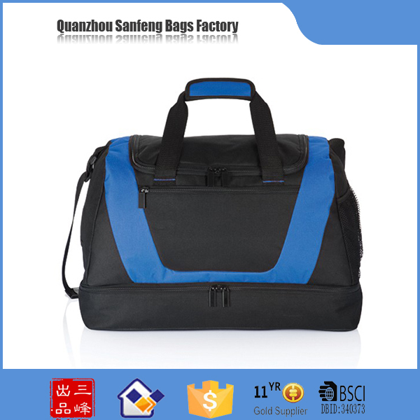 Hot china products wholesale genuine leather travel bag