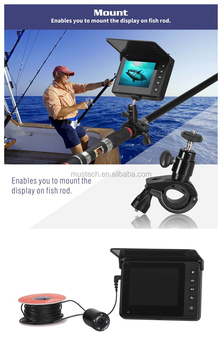 Lucky Live Review Handheld Sonar Sensor Underwater Fishing Camera Deeper Fish Finder