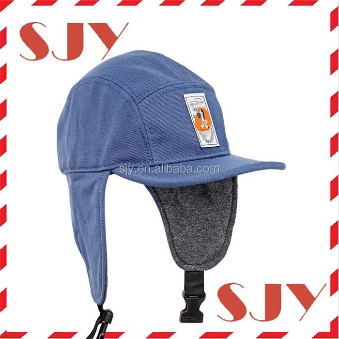 Custom Design Flat Brim Snapback Winter Cap With Earflap - Buy ... 80eb6b4c184