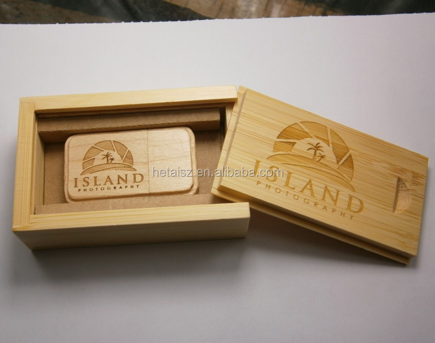 Por Wedding Gift Wooden Usb Flash Drive With Box Custom Natural Wood Memory Stick Best