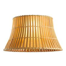 environmental bamboo waisted round lamp shade high quality good for desk light replaceable