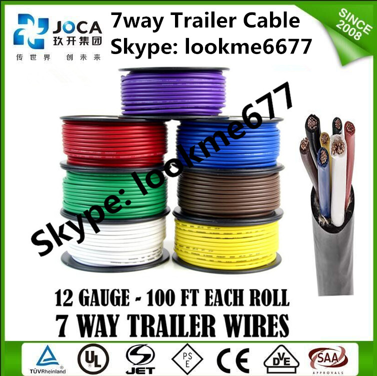 7 Wire Trailer Cable Diagram 4 Conductor Awg 14 Trailer Wire - Buy 7 ...