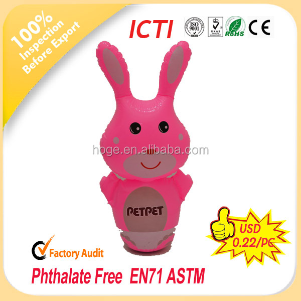 customized inflatable animal tumbler/inflatable cartoon bop bag/inflatabe bop bag