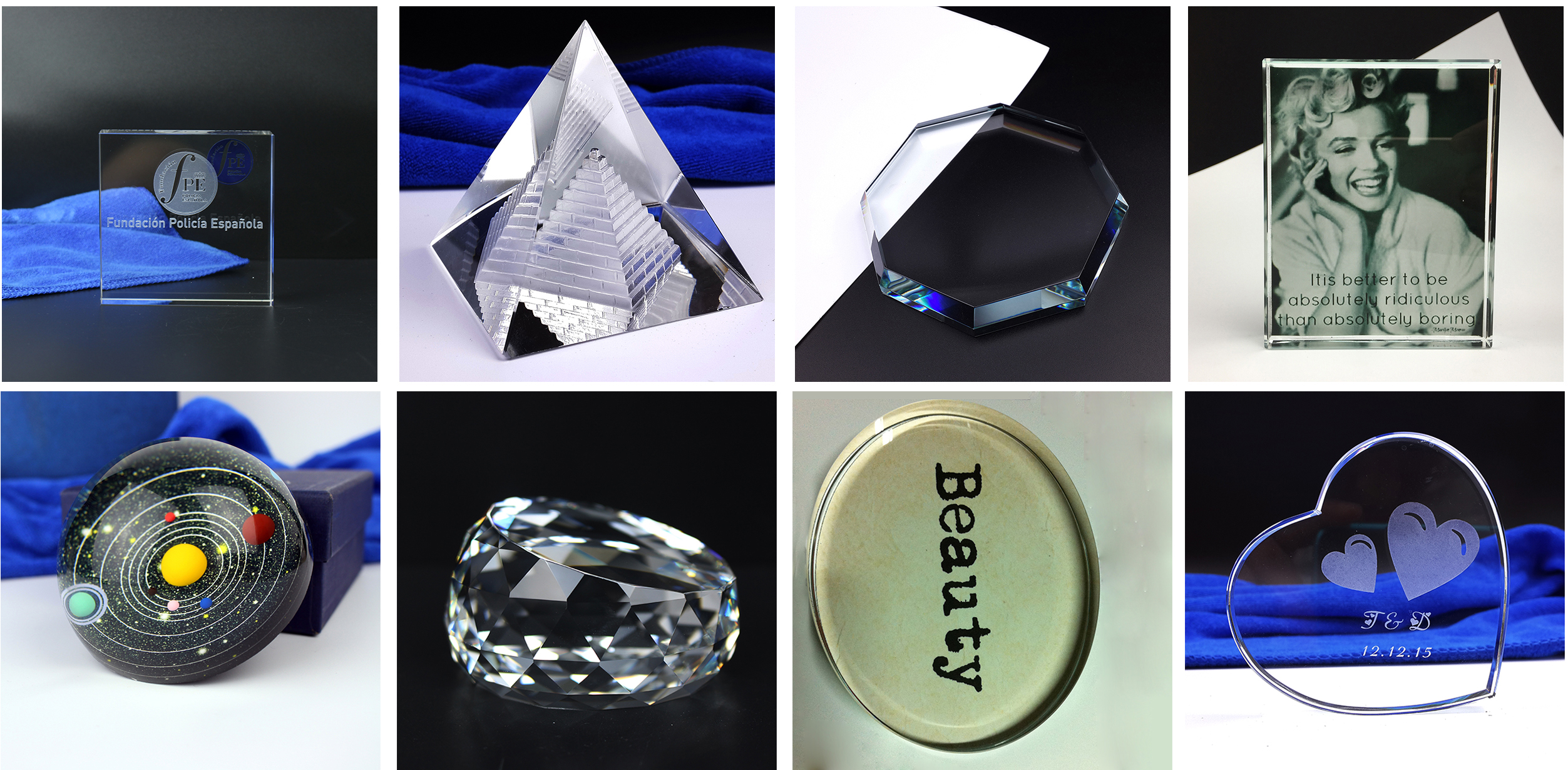 Cheap Price Glass Round Multifaceted Paperweight Crystal Graduation Souvenirs