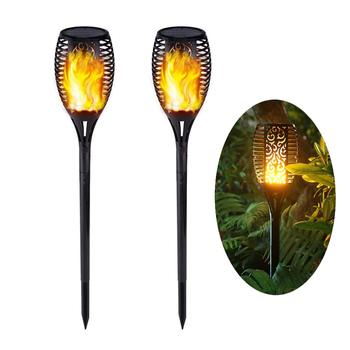 Solar Powered 96LED Fire Flickering Waterproof Garden Outdoor Flame Torch for Lawn Pathway Landscape outdoor