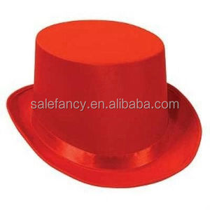 07105db863c Red Satin Sleek Tuxedo Top Hat slash open cheap top hat for sale QHAT-8562