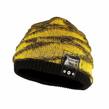 Keep Warm Beanie Hat Wireless Smart Bluetooth Knit Cap Headphone Headset  Speaker Mic Music Hats 3345e29147d