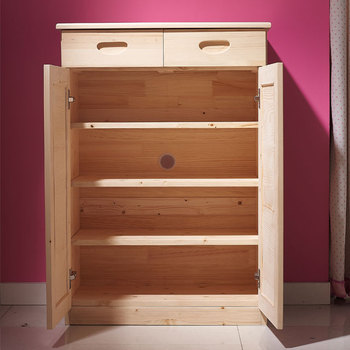 Outdoor Wooden Ventilation Custom Made Shoe Storage Cabinet Rack