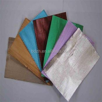 Corrugated Coloring Chocolate Aluminum Foil/corrugated Aluminum Foil  Chocolate Wrapping - Buy Corrugated Coloring Chocolate Aluminum  Foil,Corrugated ...