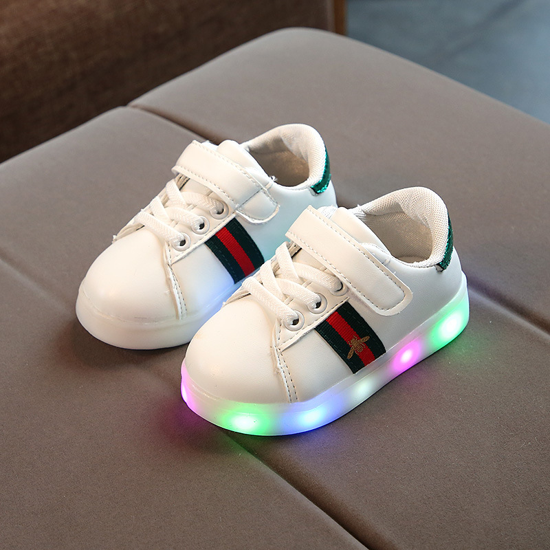 Children's Spring LED Light Sports Fashion Casual Baby Leisure Shoes