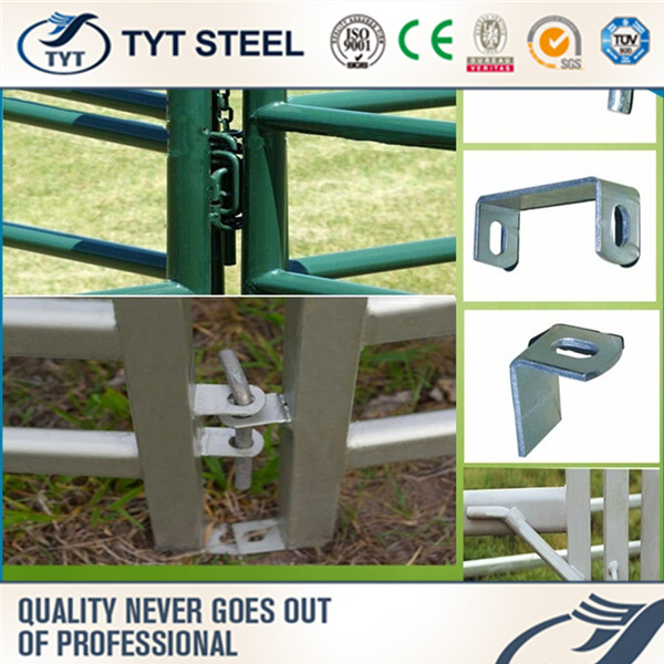 iron folding doors braided polyrope cattle rail fence