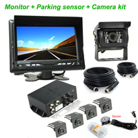 7 Inch Lcd Display Wired Reverse Camera And Car Parking Sensor ...