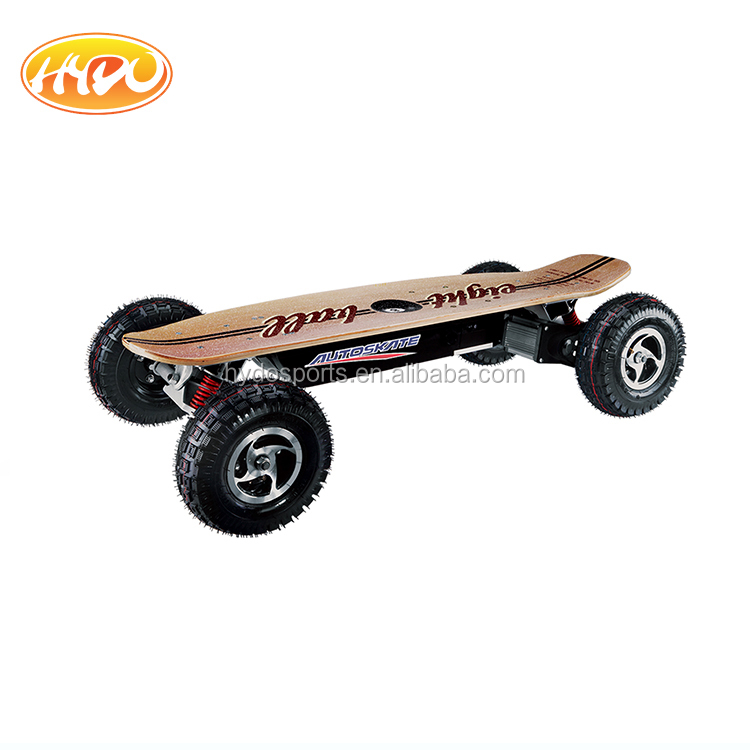 Hot Sell 4 wheels Canadian Maple Bamboo E Skateboard with brushless motor