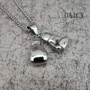 DAICY factory custom charm hiphop stainless steel boxing gloves pendant