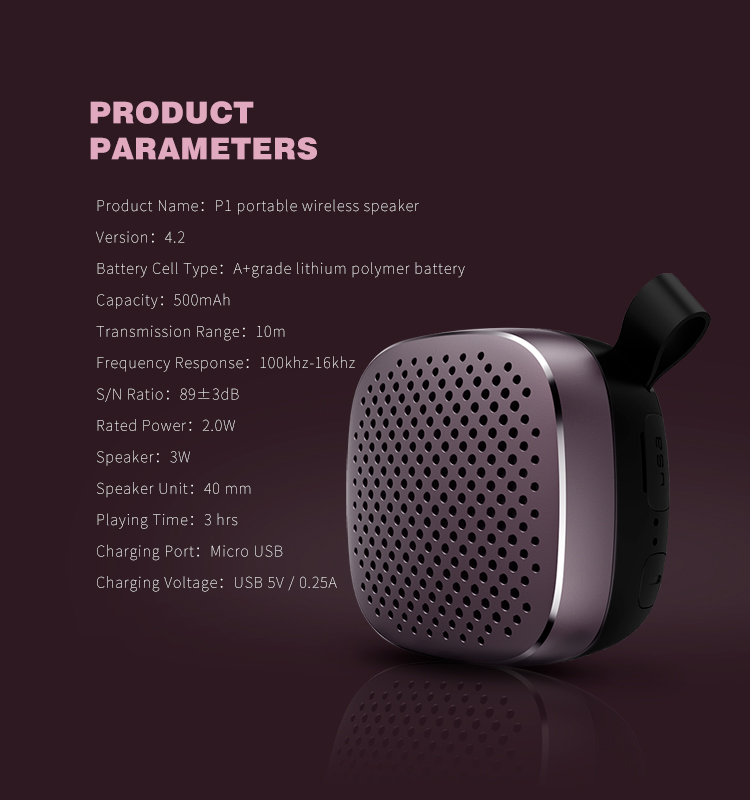 RECCI Compact size PI series Wireless speaker with 3W