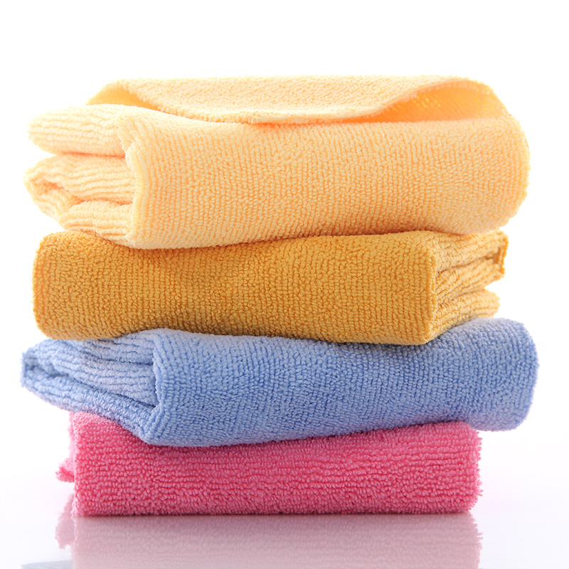 China supplier wholesale cheap 40*40 size multi-purpose microfiber car cleaning <strong>towel</strong>