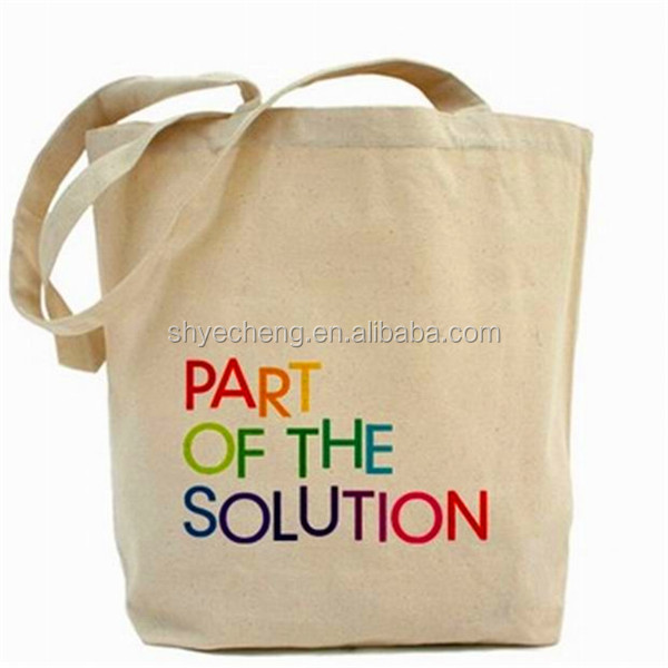 logo printed cotton canvas tote bag,colorful 100% cotton shopping bag (YC1695)