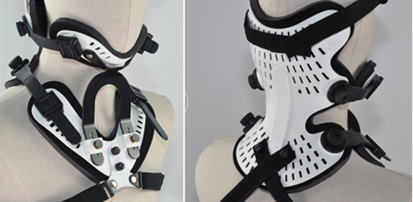 Macromolecular material easy handling orthopedic cervical collar brace with CE ISO