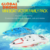 MINI VICTOR FAMILY PACK Speedboat High speed boat with waterproof rc plastic Inflatable pool rc boats china indoor toys 3392B