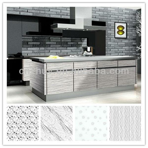 Estilo contemporáneo acrílico auto Montar gabinetes de cocina ...