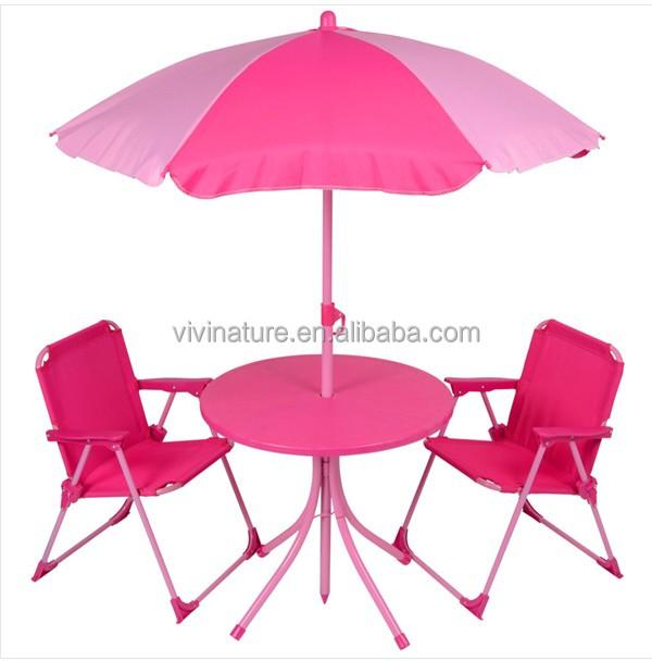 Outdoor Kid Beach Cartoon Table And Chairs