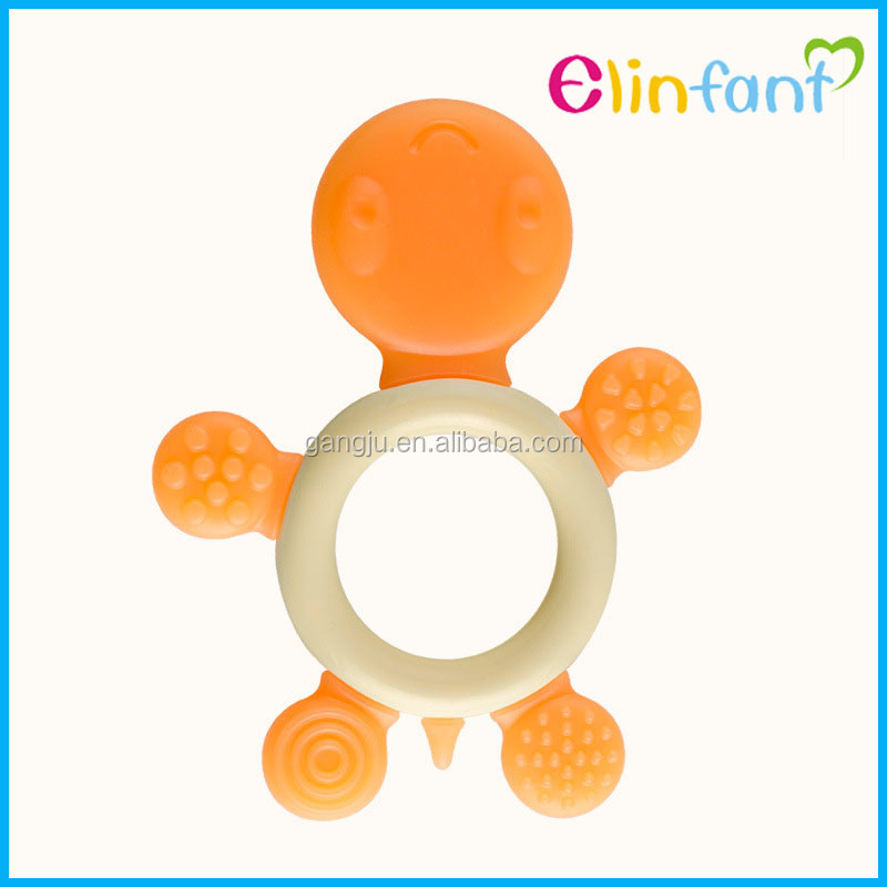 New colorful diamond style silicone teether baby teether toy safe silicone teether for kids