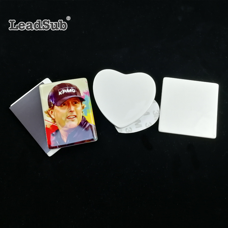 Leadsub Sublimation ceramic Blank Personal Photo Printable customised fridge magnets