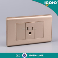1 G american socket gold color electrical sockets and switches coloured sockets and switches