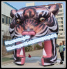 Tunnel!!!5*5,2016 Tiger Customized Inflatable,Event Animal Decoration,Party Cartoon Replica W10277