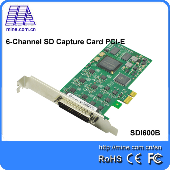 OEM Hdmi Pcmcia CVBS Card HD Video Capture Express Card With 6 channels