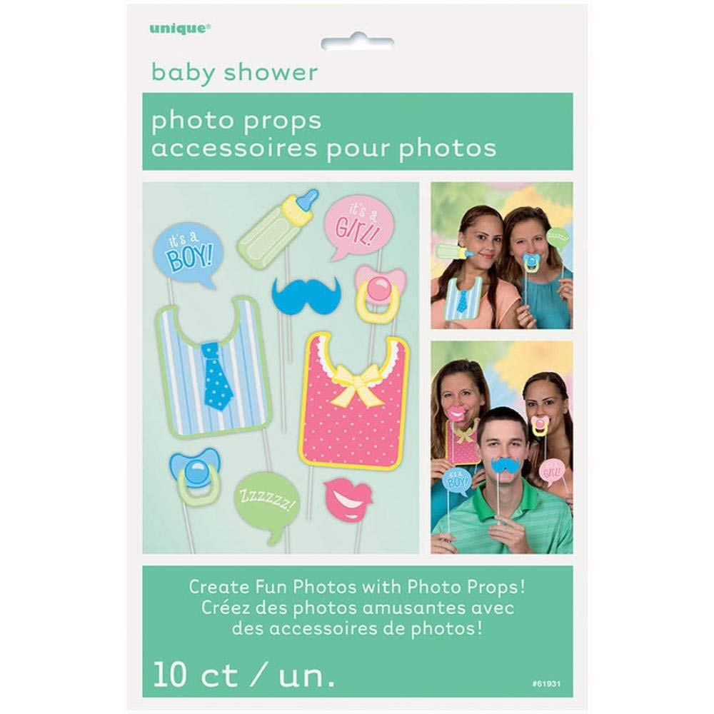 Baby Shower Photo Booth Props, 10 Piece