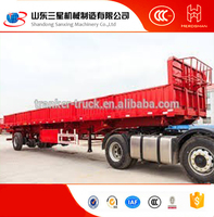 Famous brand utility used cargo fence semi trailer tri axles fence type store horse bar semi trailer