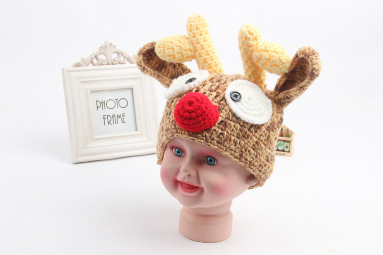 Buy Photography Props 0 6m Christmas Knitted Baby Hat Newborn