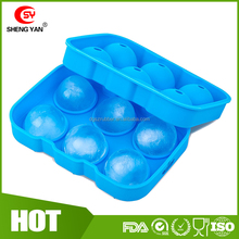 Diy 6 Ronde Ice Cube Mold Silicon Ball Shaped Ice Cube Tray/Silicon Ijs Sphere Mold