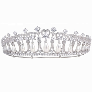 00169 Xuping copper alloy luxury wedding synthetic cz 2018 women adult bulk princess rhinestone tiaras and crowns