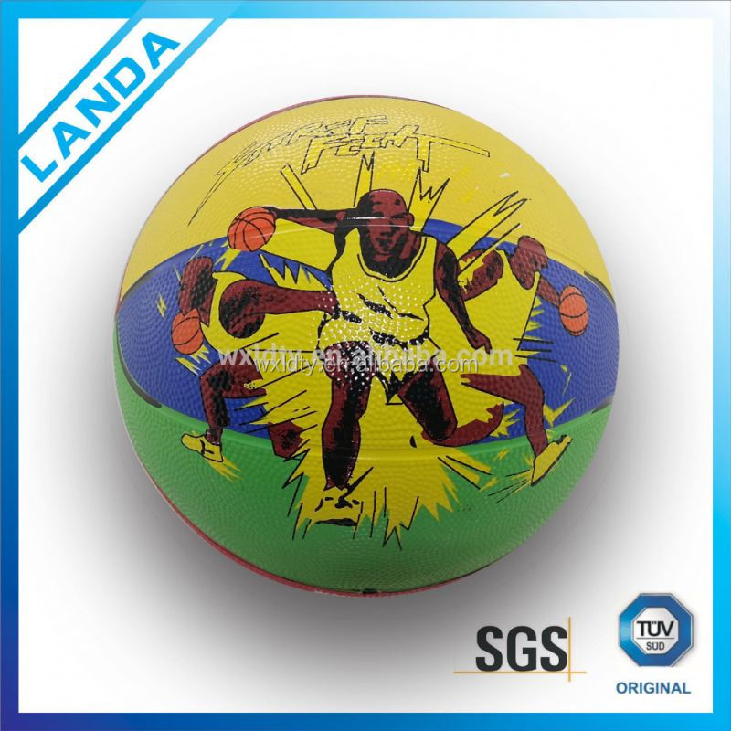 Professional custom rubber basketball ball/standard size rubber basketball 7 size