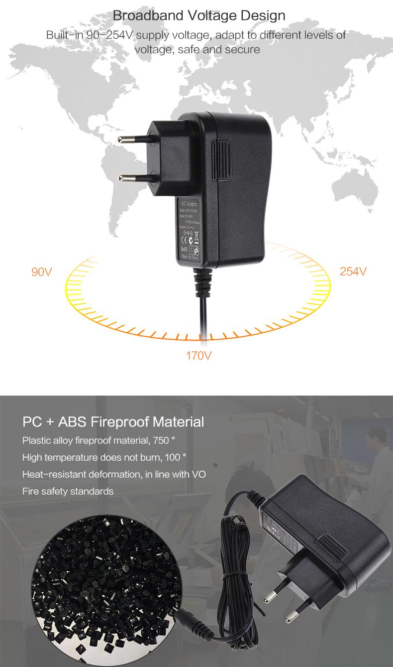 Keluaran Baru Harga Bagus IRAM KC SAA ETL PSE VCCI CE Adaptor Daya CCTV UK 5V 1A Adaptor Daya EU