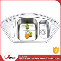 2017 CUPC approve above counter stainless steel 304 butterfly kitchen corner sink