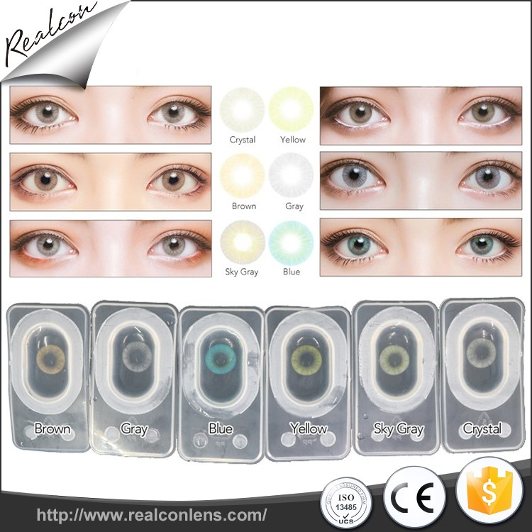 Realcon 2019 best popular aurora natural color  soft  toric contact lenses