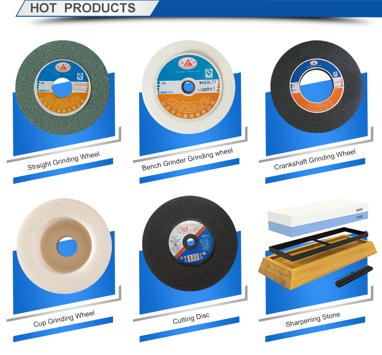 Abrasive grinding wheels for steel