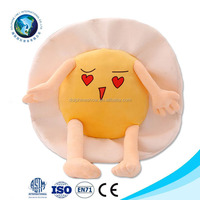 Wholesale Creative Japanese Style Cute Eggs Pillow Home Sofa Decorative Emojis Pillow Customized Cheap Emoji Cushion