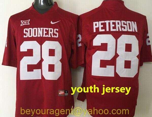 ecb1a8399b5 ... Youth Nike White Oklahoma Sooners Custom Replica Jersey youth kids 2016  100% Stitched Youth Oklahoma ...