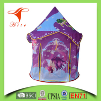 Child Play Princess Pink/Bule Castle Tent For Girls/Boys Indoor Outdoor Playhouse