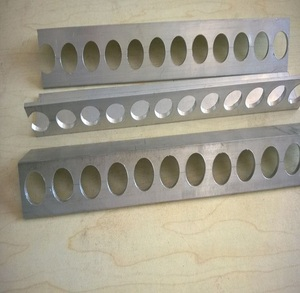 Aluminum section, 45 degree perforated aluminum angle brackets